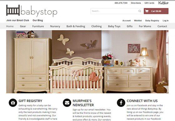 eCommerce Web Design Portfolio Babystop