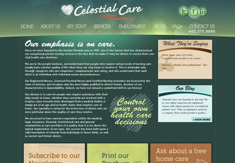 Web Design Scottsdale Celestial Care