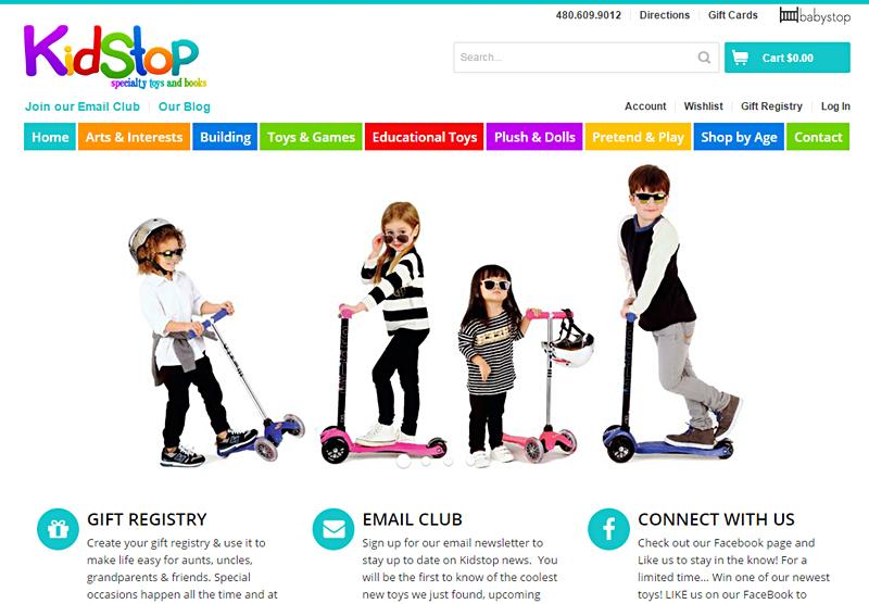 eCommerce Website Design Kidstop