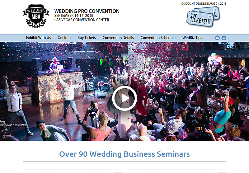 Web Design Wedding Pro Convention