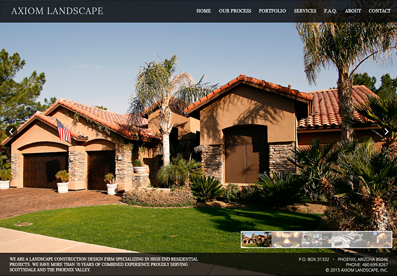 Website Design Portfolio Axiom Landscape
