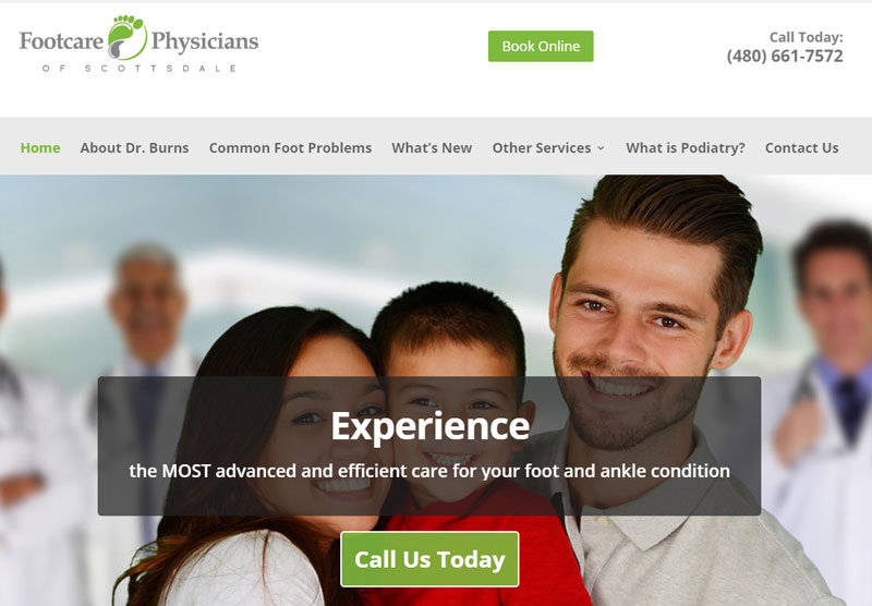 Web Design Portfolio Medical AZ Foot Doctors