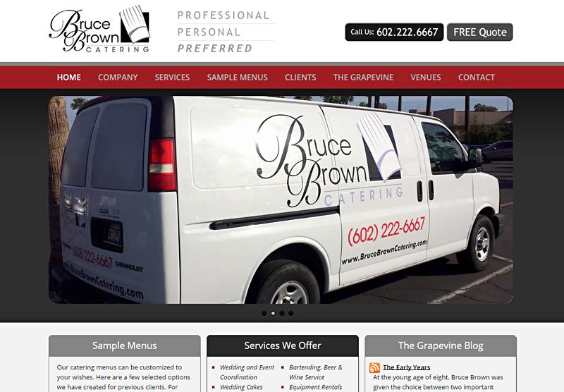 Web Design Portfolio Bruce Brown Catering