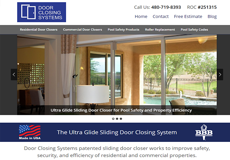 Website Design Portfolio Door Closing Systems