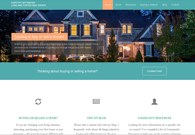 Real Estate Web Design Dorothy Wittmeyer