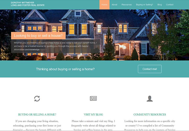 Real Estate Web Design Dorothy Wittmeyer