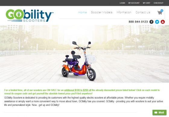eCommerce Web Design GoBility