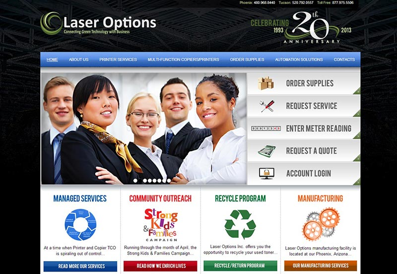 Medical Web Design Phoenix Laser Options