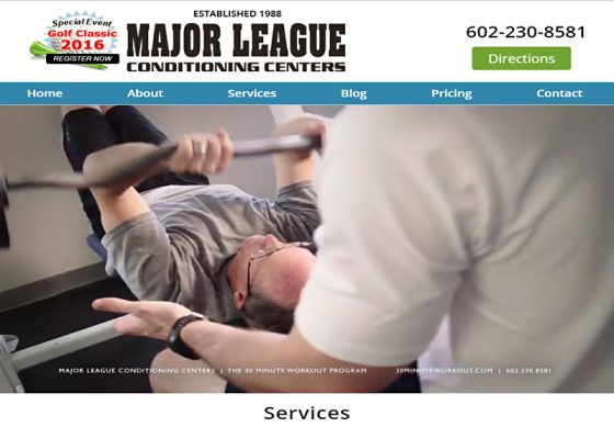 Web Design Portfolio Major League Conditioning