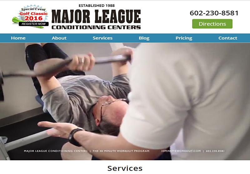 Web Design Portfolio Major League Conditioning