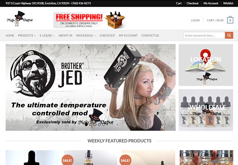 eCommerce Website Mojo Vapor