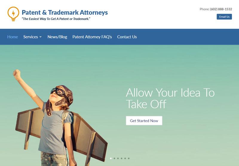 Lawyer Web Design Portfolio Patent & Trademark