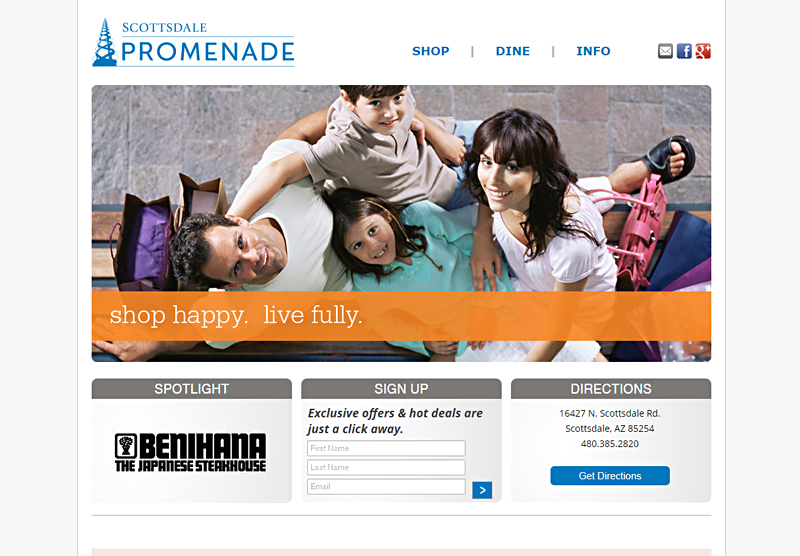 Web Design Scottsdale Promenade