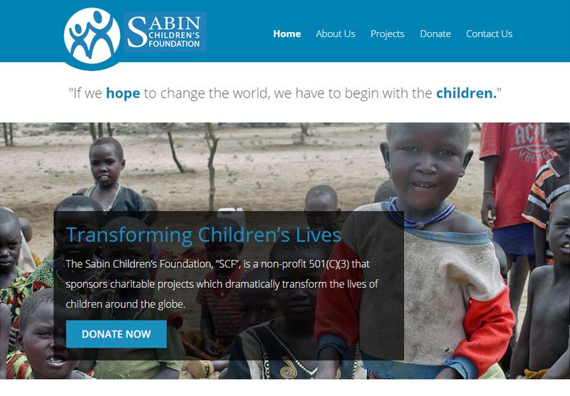 Non Profit Web Design Sabin