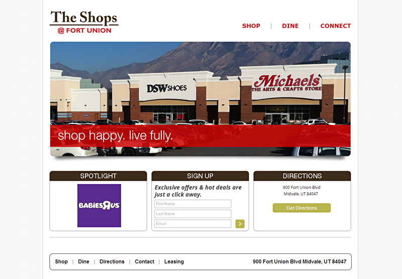 Website Design and Development The Shops