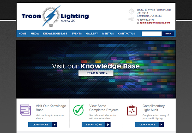 Web Design Agency Troon Lighting