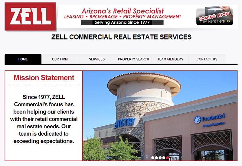 Web Design Real Estate Zell