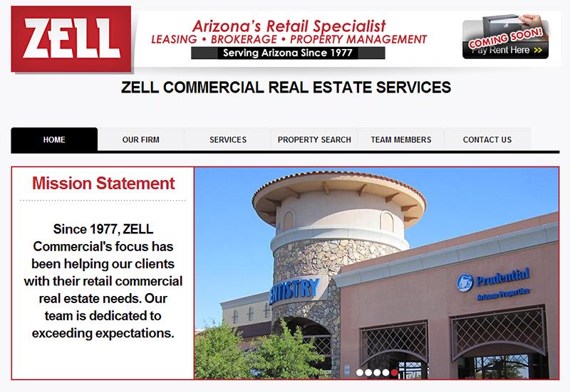 Web Design Real Estate Zell