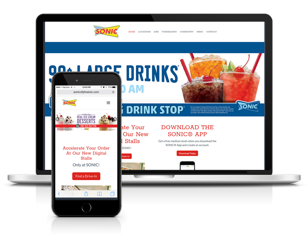 Web Design Portfolio Sonic of Phoenix