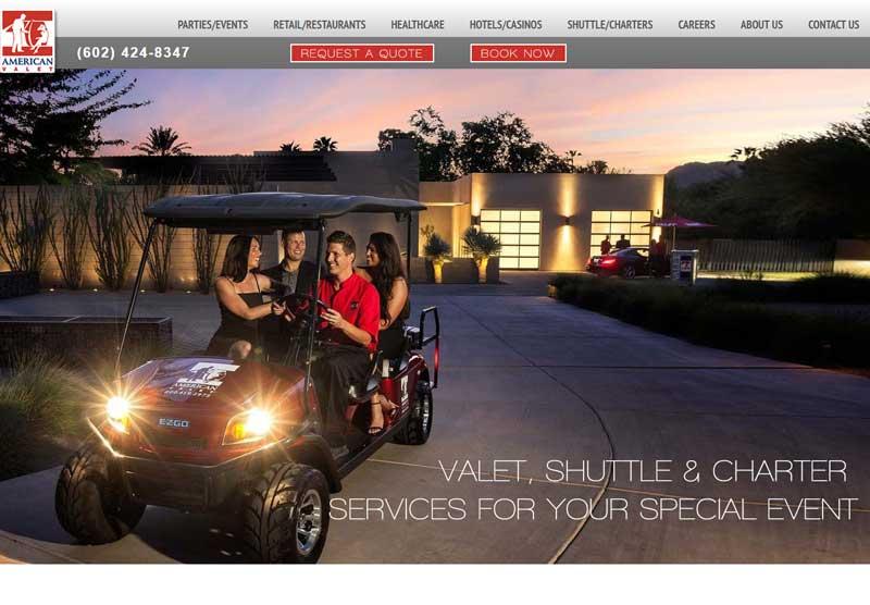 Web Design Portfolio American Valet