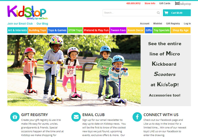 Kidstop website design Scottsdale