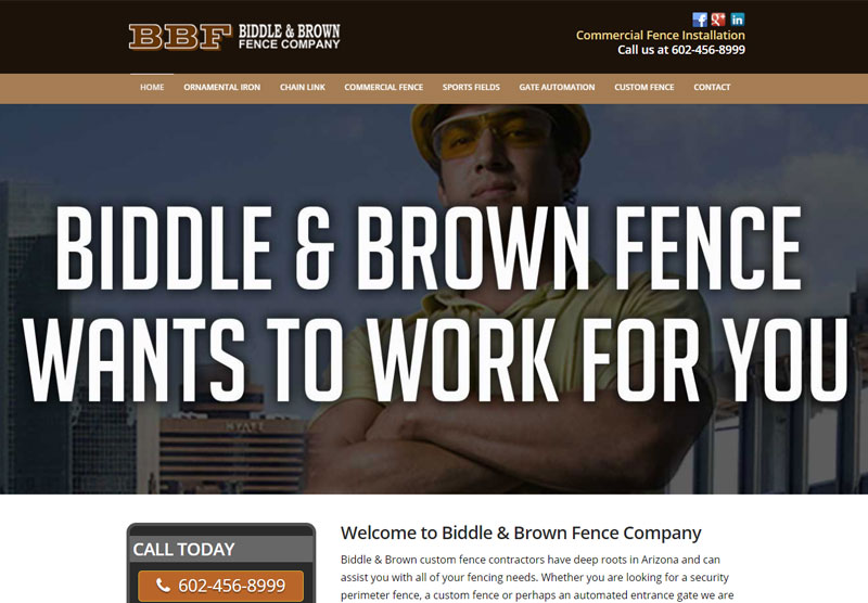 biddle brown responsive website phoenix