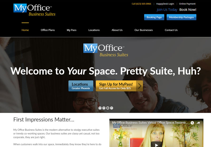 my office az responsive website mesa