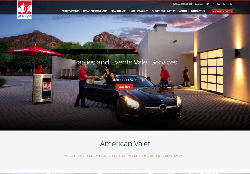website design scottsdale american valet