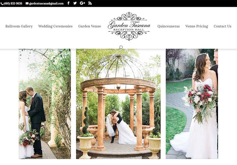 garden tuscana website desktop snapshot