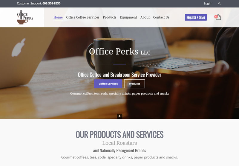office perks website desktop snapshot
