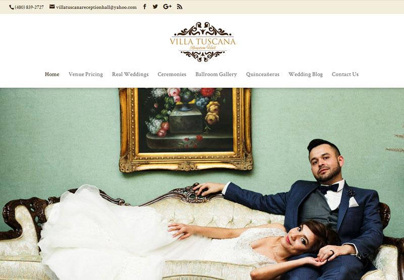 villa tuscana website desktop snapshot