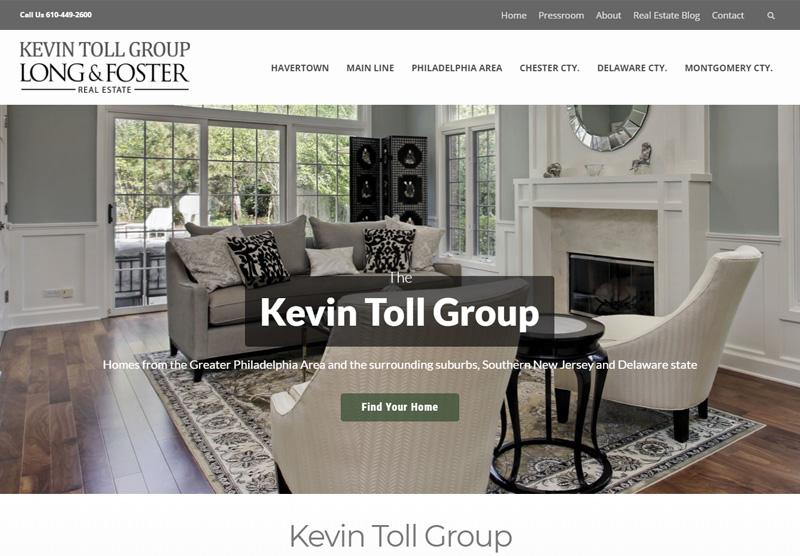 kevin toll group website desktop snapshot