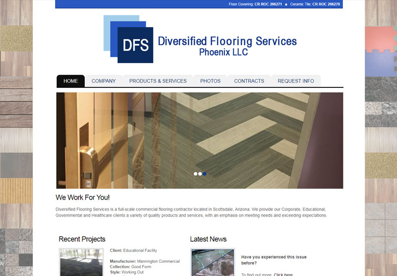 Diversified Flooring Website Design