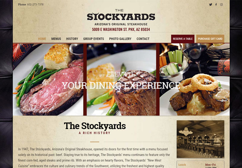 the stockyards website desktop snapshot