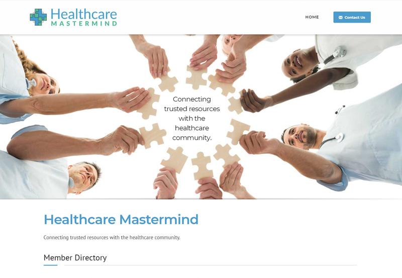 healthcare mastermind website desktop snapshot
