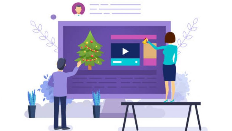 holiday marketing graphic