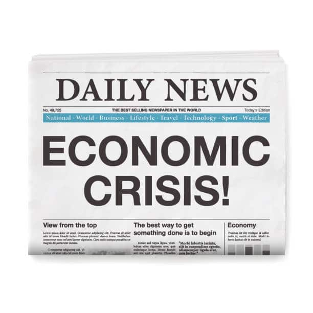 daily news newspaper graphic economic crisis