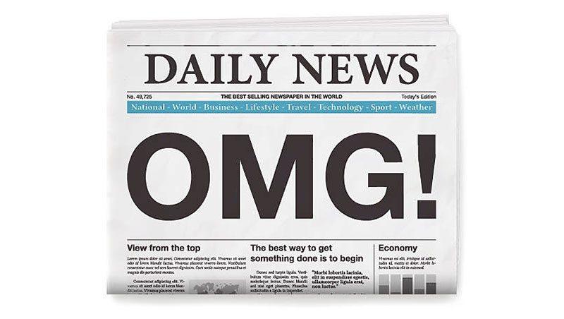 daily news newspaper graphic