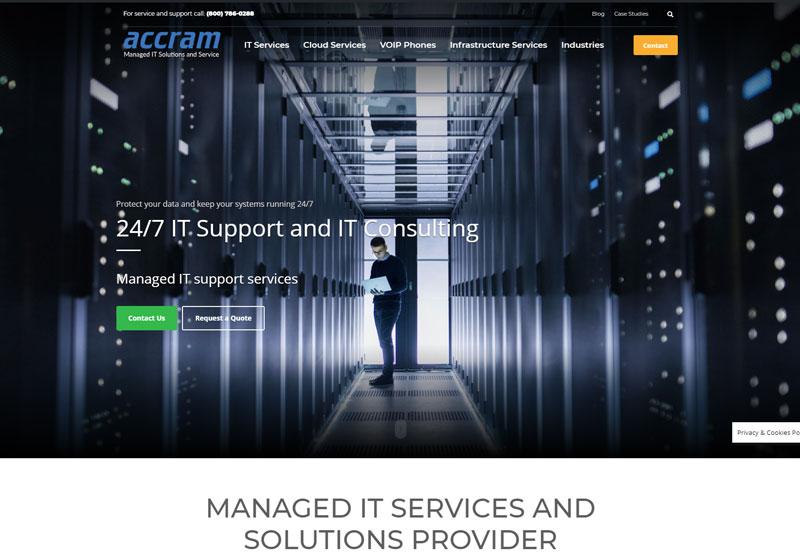 accram website desktop snapshot