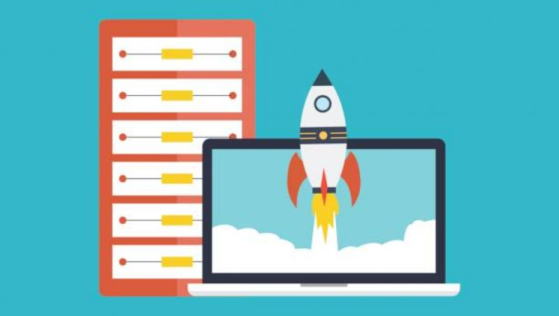 project hosting rocket graphic