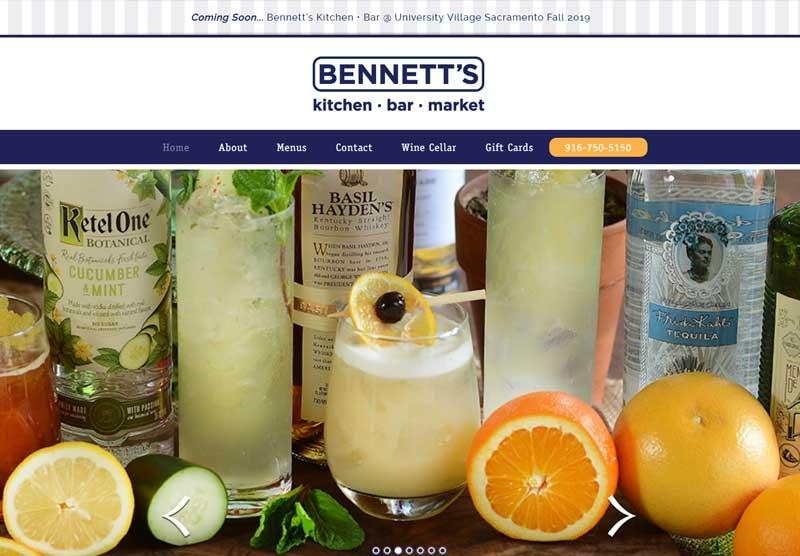 bennetts kitchen website snapshot