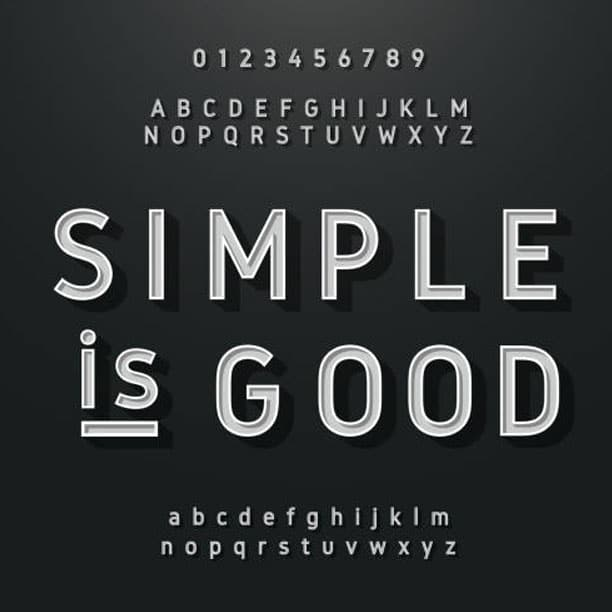 use simple font graphic