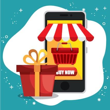 Buy now mobile cartoon