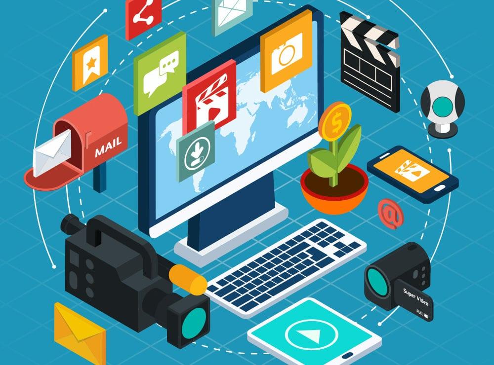 Cartoon of video marketing