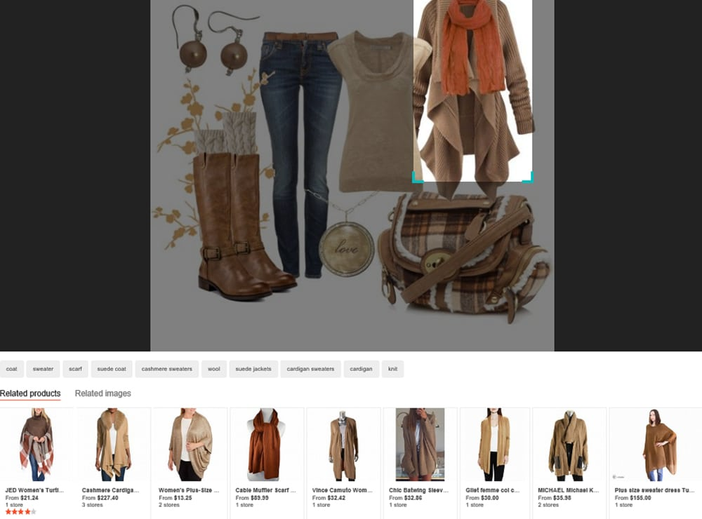 bing visual search example