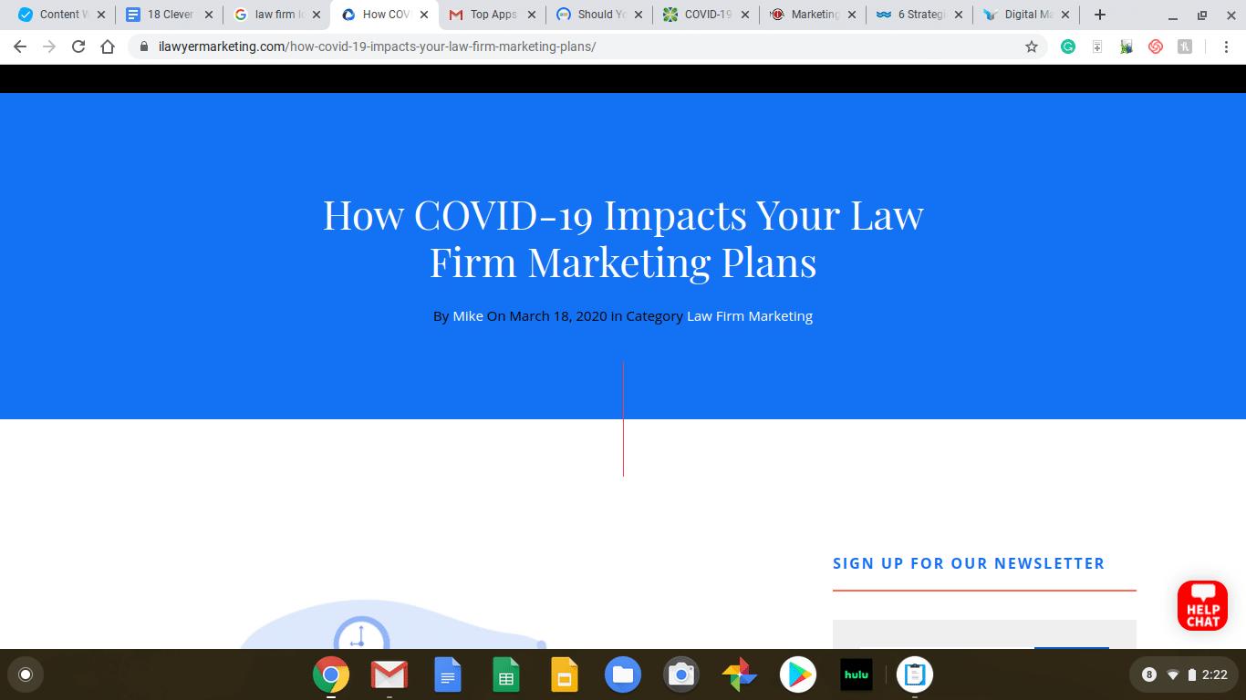 Lawfirm website snapshot