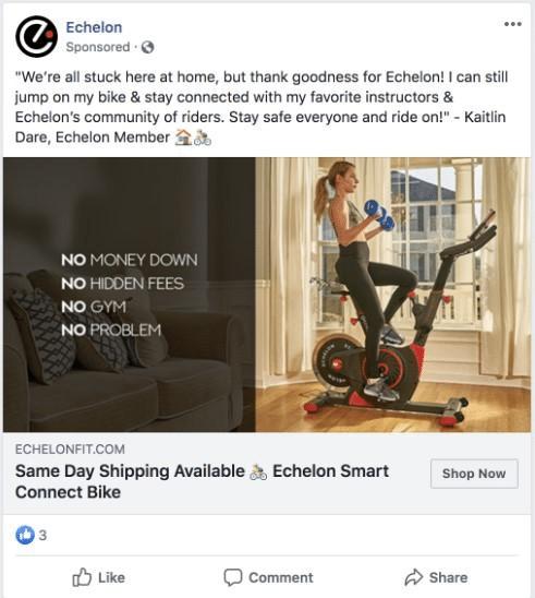 Echelon fit remarketing campaign