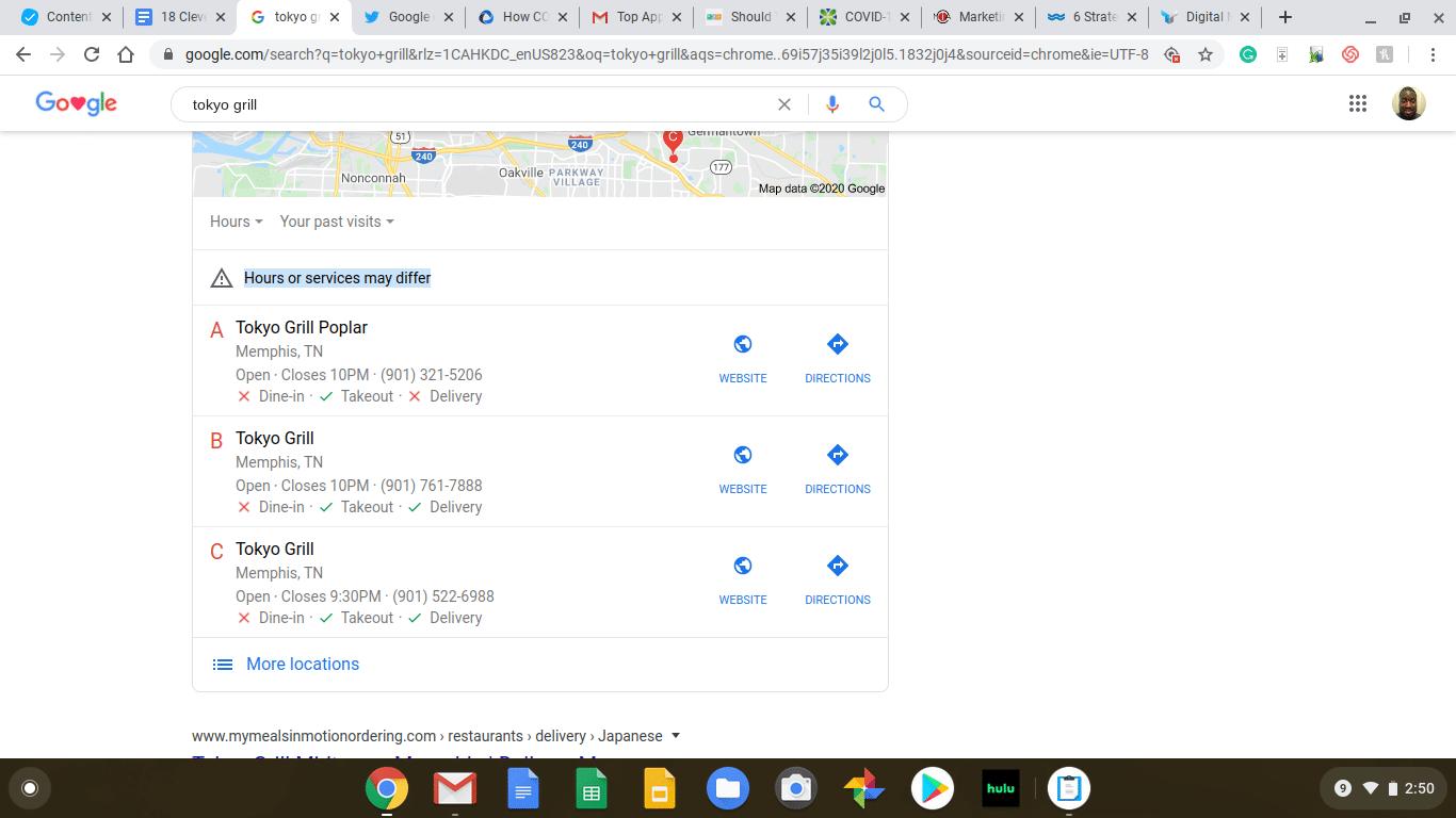 Google listing screenshot