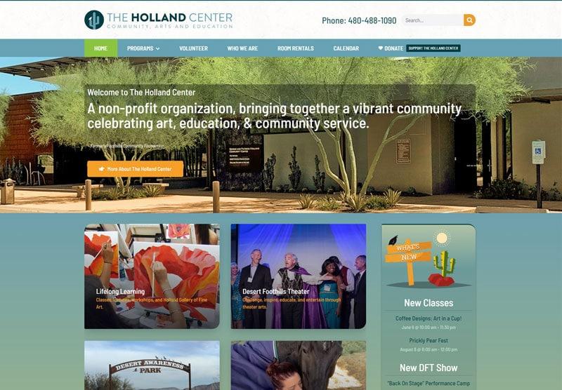 The Holland ceneter desktop snapshot