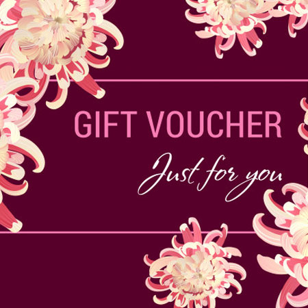 just for you gift voucher